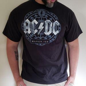 AC/DC Black Ice Tshirt Men's Size Large